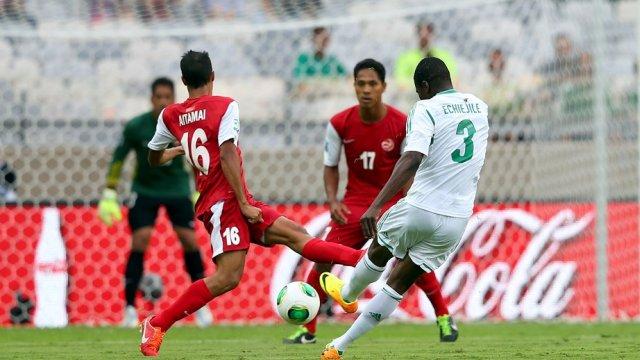 Nigeria goleó a Tahití aunque sin brillo alguno