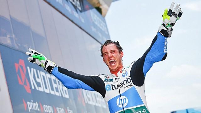 Pol Espargaró celebró con rabia su victoria en Montmeló
