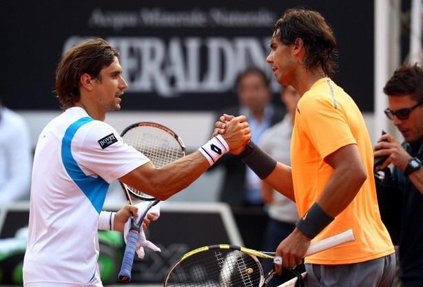 Rafa Nadal y David Ferrer en Roma