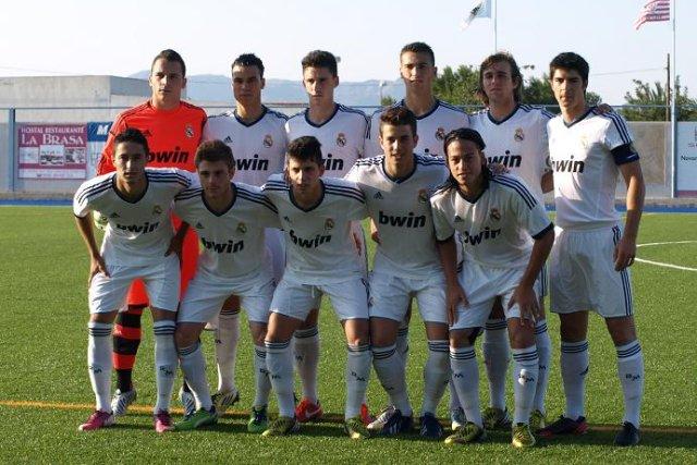Alineación del Real Madrid juvenil en la final de Copa del Rey