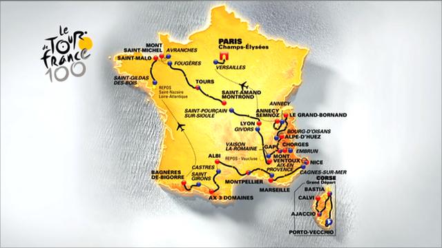 Recorrido del Tour de Francia 2013