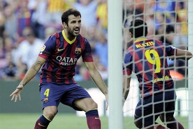 Alexis y Cesc marcaron en el estreno del Barcelona