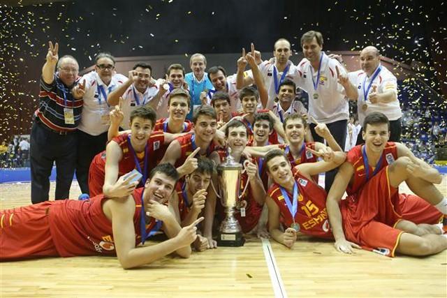 La selección U16 ganó el Eurobasket masculino de 2013