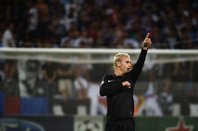 Griezmann marcó un gol de chilena al Lyon