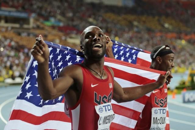 Merritt ganó el oro con la quinta mejor marca de la historia