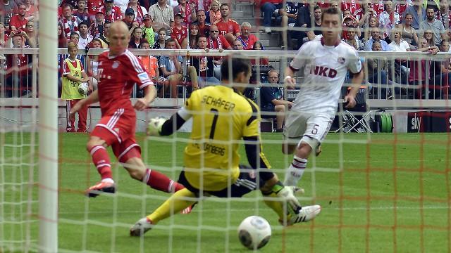 Robben abrió la cuenta goleadora del Bayern