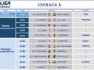 Liga Española 2013-2014 2ª División: horarios y retransmisiones de la Jornada 6