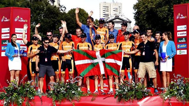 El Euskatel en el podio de la Vuelta a España 2013
