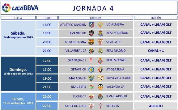 Liga-Española-Horarios-Jornada-4