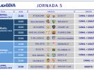 Liga Española 2013-2014 1ª División: horarios y retransmisiones de la Jornada 5