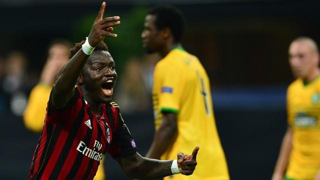Muntari festeja la victoria del AC Milan