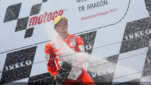 Terol consiguió en Aragón su primer triunfo en Moto2