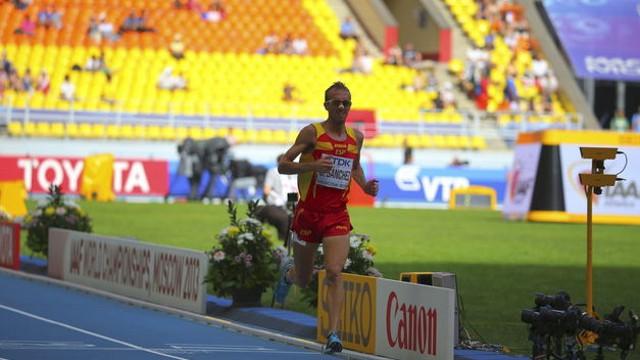 Sergio Sánchez durante el mundial de Moscú