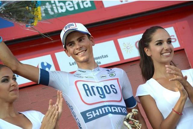 Warren Barguil en el podio de la Vuelta a España