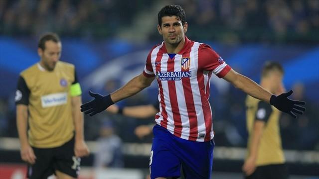 Diego Costa se estrenó en Champions con dos goles