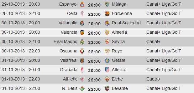 LFP-Horarios-Jornada-11-Primera-Division