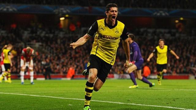 El gol de Lewandowski dio la victoria al Borussia frente al Arsenal