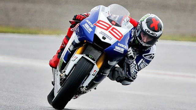 Jorge Lorenzo en acción en el circuito de Japón