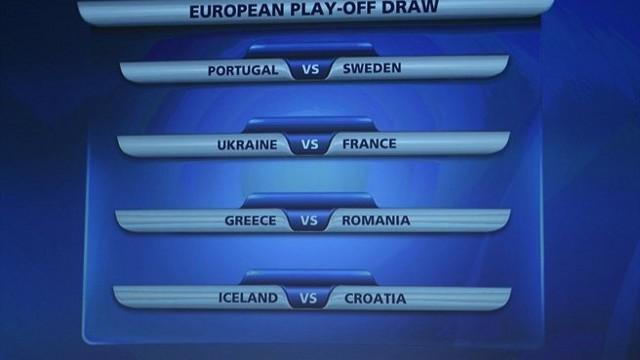 Emparejamientos de la repesca para el Mundial 2014 en la zona UEFA
