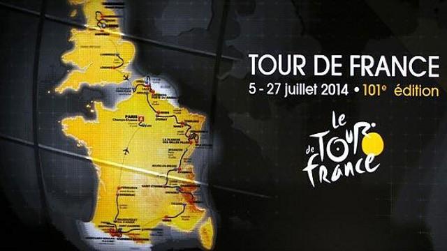 El recorrido del Tour de Francia de 2014