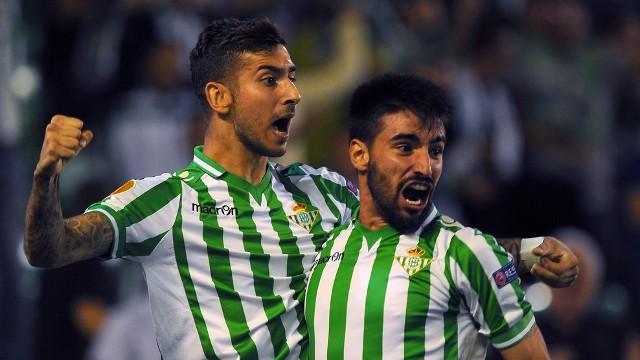 Vadillo celebra el gol de la victoria del Betis
