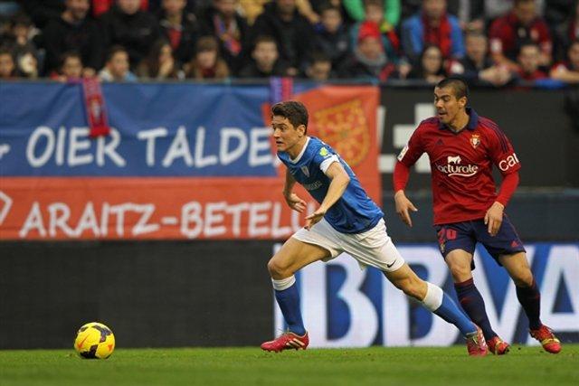 Ander Herrera cuajó un gran partido en Pamplona
