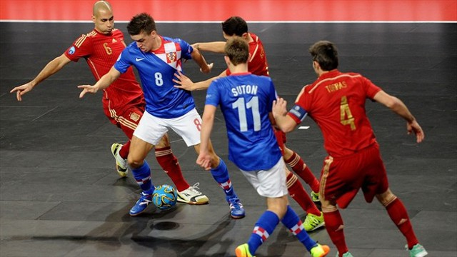 España no pudo con Croacia en el primer partido del Europeo de fútbol sala
