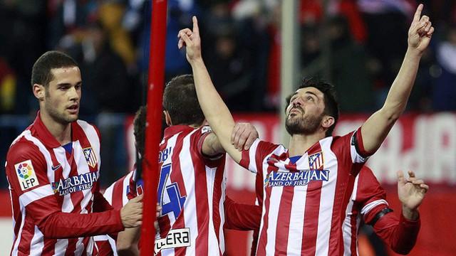 Villa le dedicó su gol a Luis Aragonés