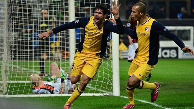 Diego Costa celebra su gol ante el AC Milan
