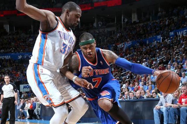 Durant y Anthony fueron los mejores de la NBA en enero