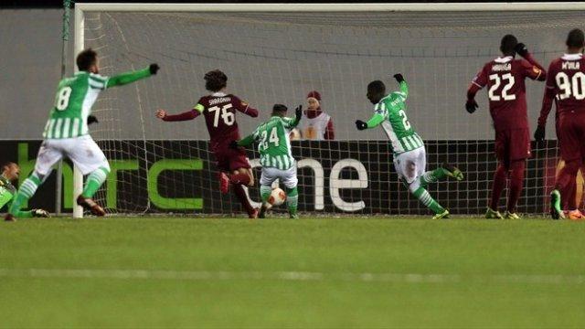 El Betis eliminó al Rubin Kazan en Europa League