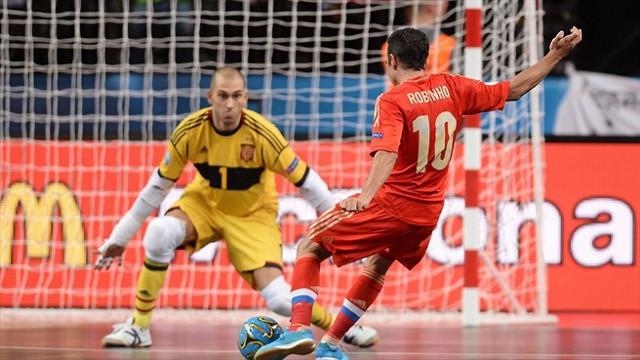 El gol de Robinho dejó a España fuera de la final