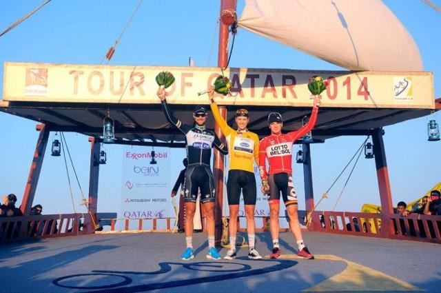 El holandés Terpstra en el podio del Tour de Qatar 2014
