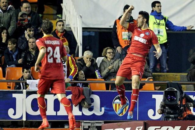 El Getafe dio la sorpresa en Valencia