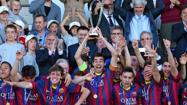 El Barcelona juvenil es el primer campeón de la Youth League