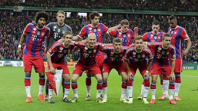 El once del Bayern Munich en la final de Copa de Alemania