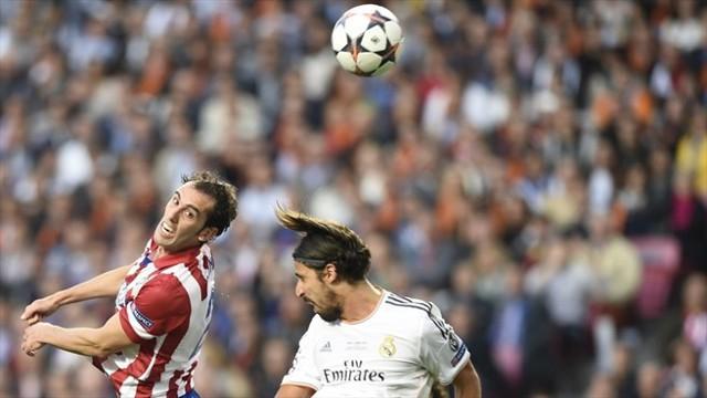 Godín adelantó al Atlético de Madrid