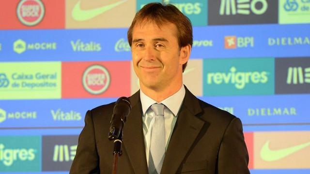 Lopetegui en su presentación como entrenador del Oporto