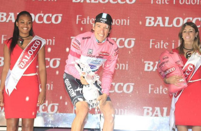 Urán ya es líder del Giro de Italia 2014