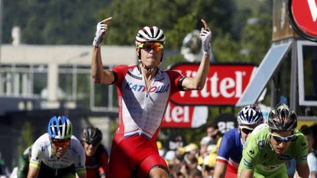 El noruego Kristoff logró su primera victoria en el Tour