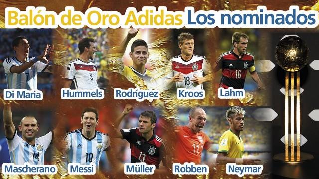 Nominados Balón de Oro del Mundial