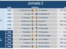 Liga Española 2014-2015 2ª División: horarios y retransmisiones de la Jornada 2