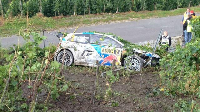 Accidente Latvala Rally Alemania