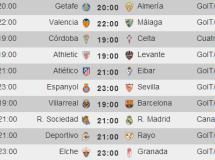 Liga Española 2014-2015 1ª División: horarios y retransmisiones de la Jornada 2