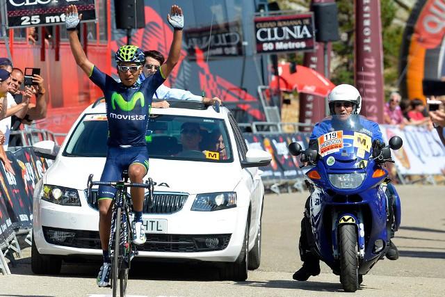 Nairo Quintana ganando en las Lagunas de Neila