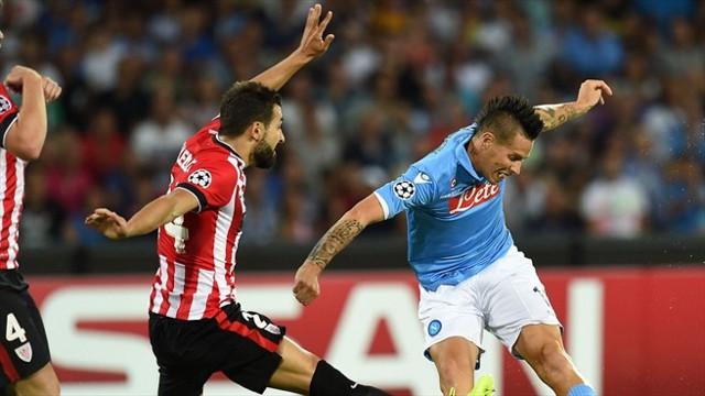 Nápoles y Athletic empataron a 1 en el primer asalto.