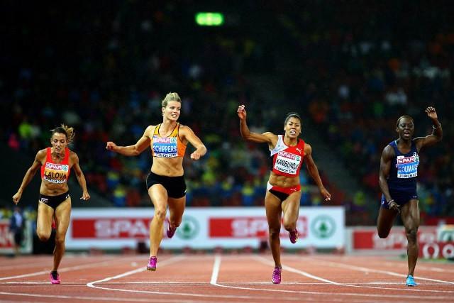 Schippers dio la sorpresa al ganar la prueba de 100 metros