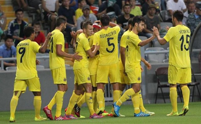 El Villarreal goleo al Astana en la Europa League