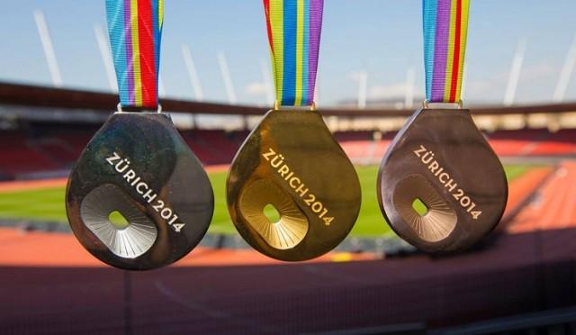 Las medallas del Europeo de atletismo Zurich 2014