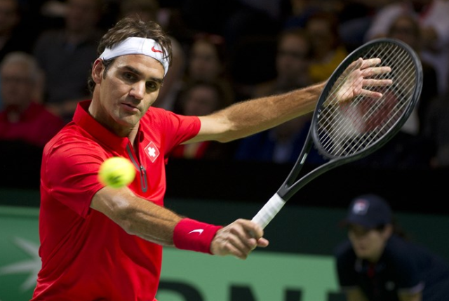 Roger Federer gano en la Copa Davis